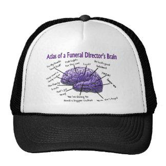Diseño divertido del cerebro del director de funer gorras