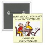 diseño divertido del chiste del jugador de puente pin