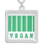 diseño divertido del código de barras del vegano grímpola