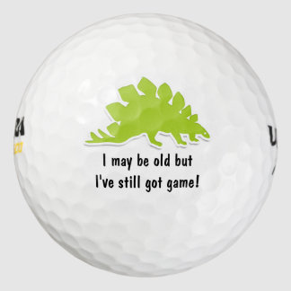Diseño divertido del dinosaurio pack de pelotas de golf