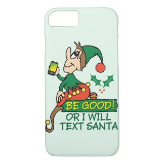 Diseño divertido del duende del navidad funda iPhone 7