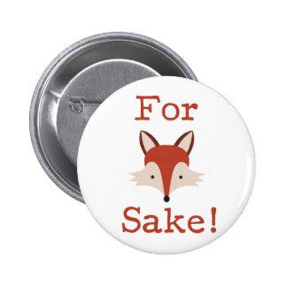 Diseño divertido del Fox Pin Redondo De 2 Pulgadas