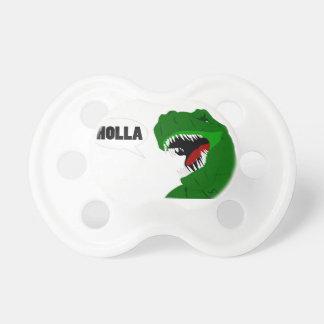 Diseño divertido del Holla del dinosaurio de T-rex Chupete De Bebé