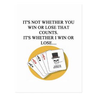 diseño divertido del jugador de tarjeta del puente tarjeta postal