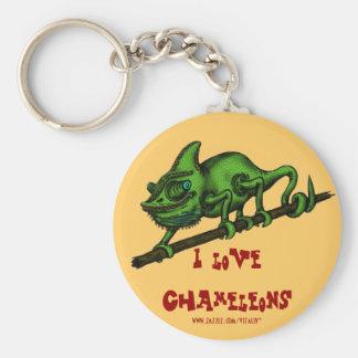 Diseño divertido del llavero del camaleón