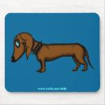 Diseño divertido del mousepad del dachshund
