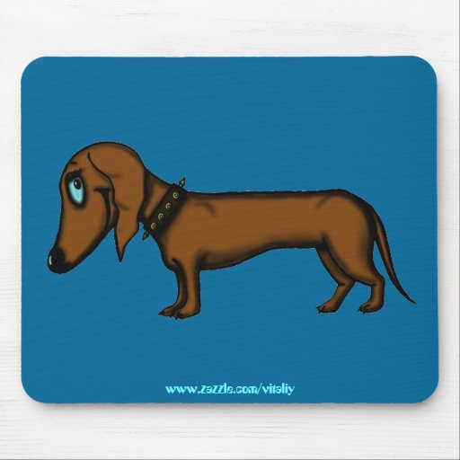 Diseño divertido del mousepad del dachshund alfombrilla de raton