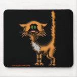 Diseño divertido del mousepad del gato alfombrilla de raton