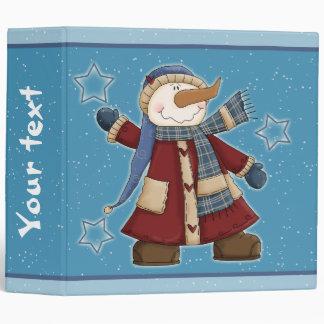 """Diseño divertido del muñeco de nieve carpeta 2"""""""