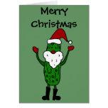 Diseño divertido del navidad de Papá Noel de la Felicitación