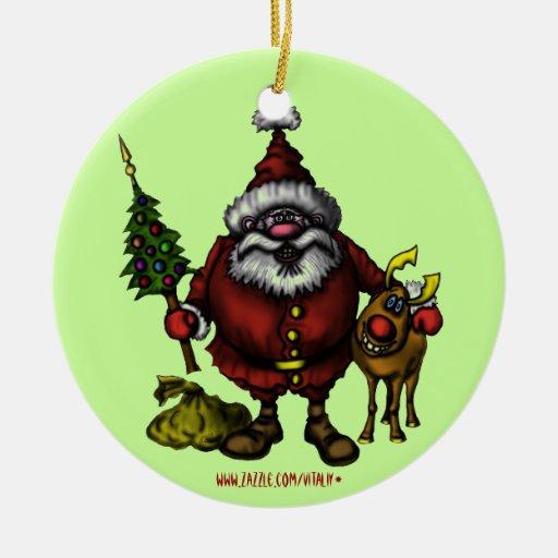 Diseño divertido del ornamento del árbol de ornamento para arbol de navidad