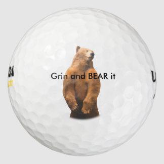 Diseño divertido del oso pack de pelotas de golf
