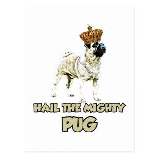 Diseño divertido del perro del barro amasado postales