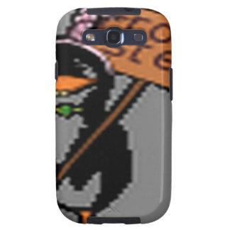 Diseño divertido del pingüino galaxy SIII cobertura