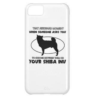 diseño divertido del shiba funda para iPhone 5C