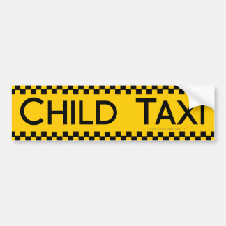 Diseño divertido del taxi del niño para conducir p pegatina de parachoque