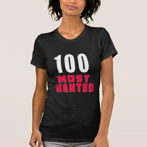 Diseño divertido más deseado del cumpleaños 100 camiseta