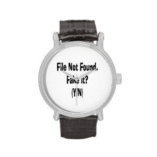 diseño divertido no encontrado del ordenador del relojes de pulsera