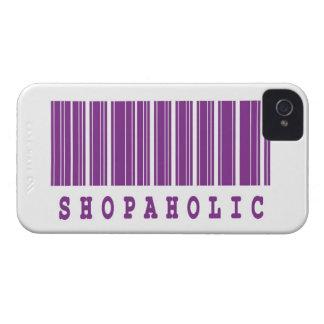 diseño divertido shopaholic del código de barras carcasa para iPhone 4