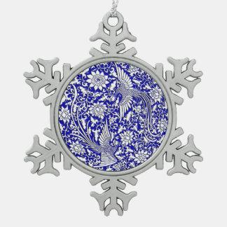 Diseño doble antiguo chino de Phoenix Adorno De Peltre En Forma De Copo De Nieve