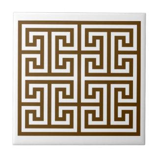 Diseño dominante griego teja  ceramica