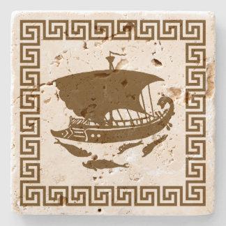 Diseño dominante griego posavasos de piedra