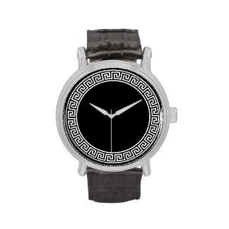 Diseño dominante griego relojes de mano