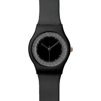 Diseño dominante griego relojes de pulsera