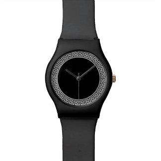 Diseño dominante griego reloj