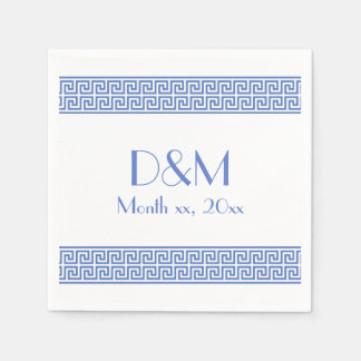 Diseño dominante griego servilleta de papel
