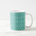 Diseño dominante griego - trullo y blanco taza de café