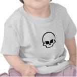 diseño dos del cráneo camiseta
