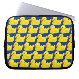Diseño Ducky de goma amarillo impresionante del pa Manga Portátil