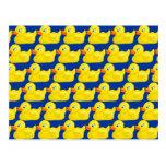 Diseño Ducky de goma amarillo impresionante del pa Postales