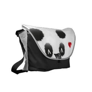 diseño dulce de la panda bolsas messenger