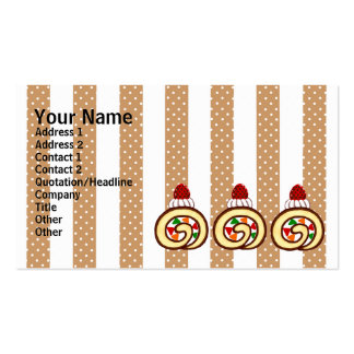 Diseño dulce del rollo de la torta tarjetas de visita