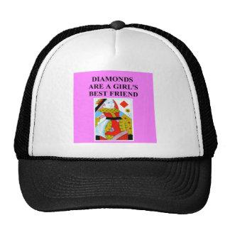 diseño duplicado del jugador de puente gorras