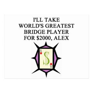 diseño duplicado del jugador de puente tarjeta postal