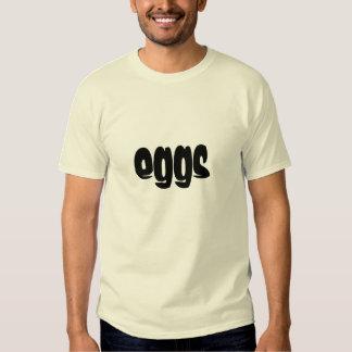diseño eggy de los huevos remeras