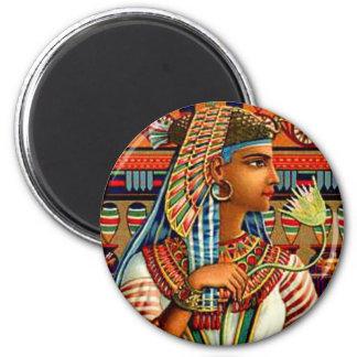 Diseño egipcio del arte del renacimiento de Cleopa Imán Redondo 5 Cm