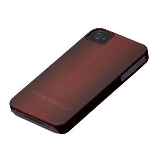 Diseño ejecutivo de hombres con el nombre para los Case-Mate iPhone 4 protectores