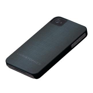 Diseño ejecutivo de hombres con el nombre para los iPhone 4 protectores
