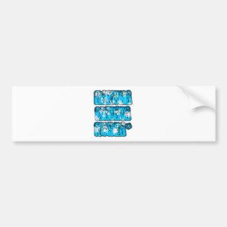 Diseño elegante azul Hakuna Matata K de Zombi del Etiqueta De Parachoque