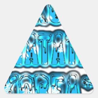 Diseño elegante azul Hakuna Matata K de Zombi del Pegatina Triangular