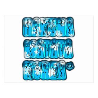 Diseño elegante azul Hakuna Matata K de Zombi del Postal