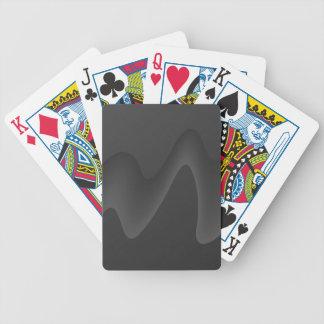 Diseño elegante de la onda en gris oscuro. barajas de cartas