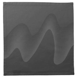 Diseño elegante de la onda en gris oscuro servilleta