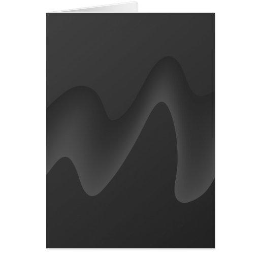 Diseño elegante de la onda en gris oscuro. tarjetón
