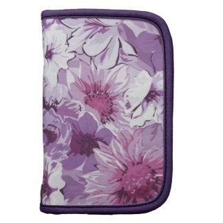 Diseño elegante de las flores púrpuras organizador
