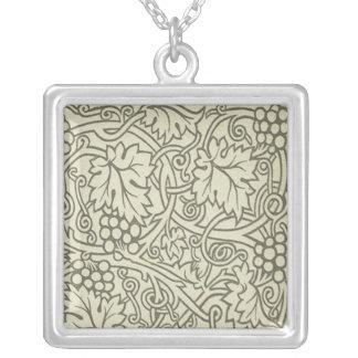 Diseño elegante de Nouveau del arte de la vid del Collar Plateado